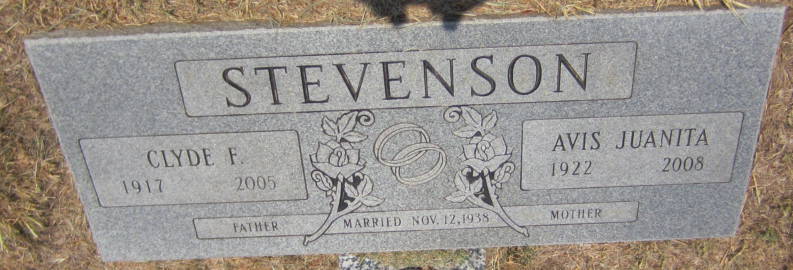 Avis Juanita <i>Rascoe</i> Stevenson