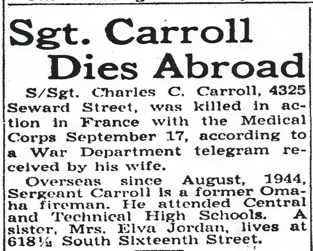 SSgt. Charles C Carroll