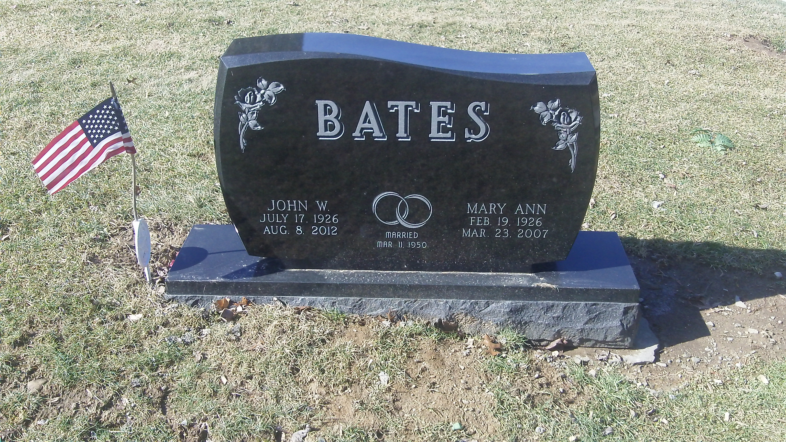 Mary Ann <i>Faught</i> Bates