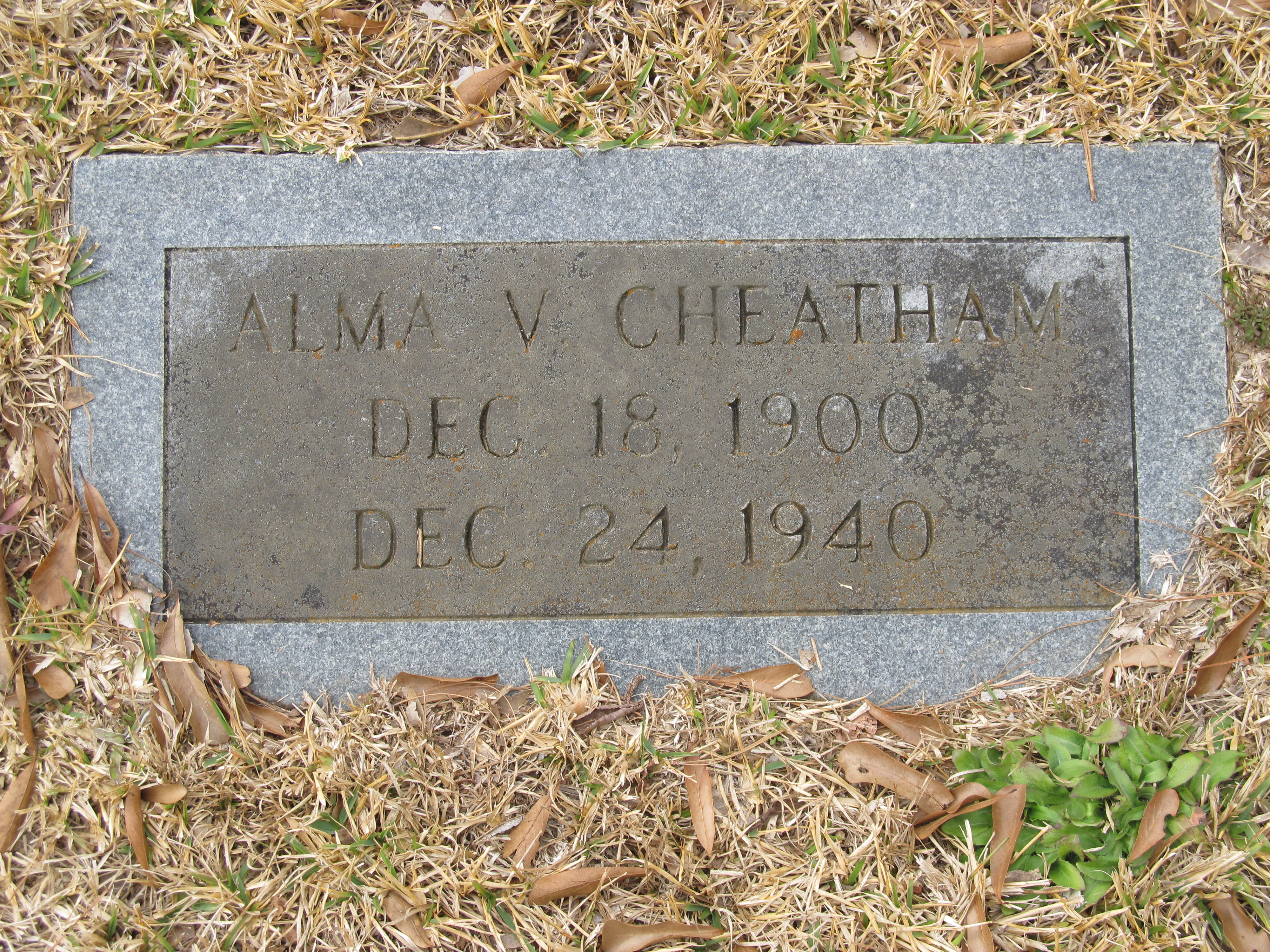 Alma V <i>McCullar</i> Cheatham