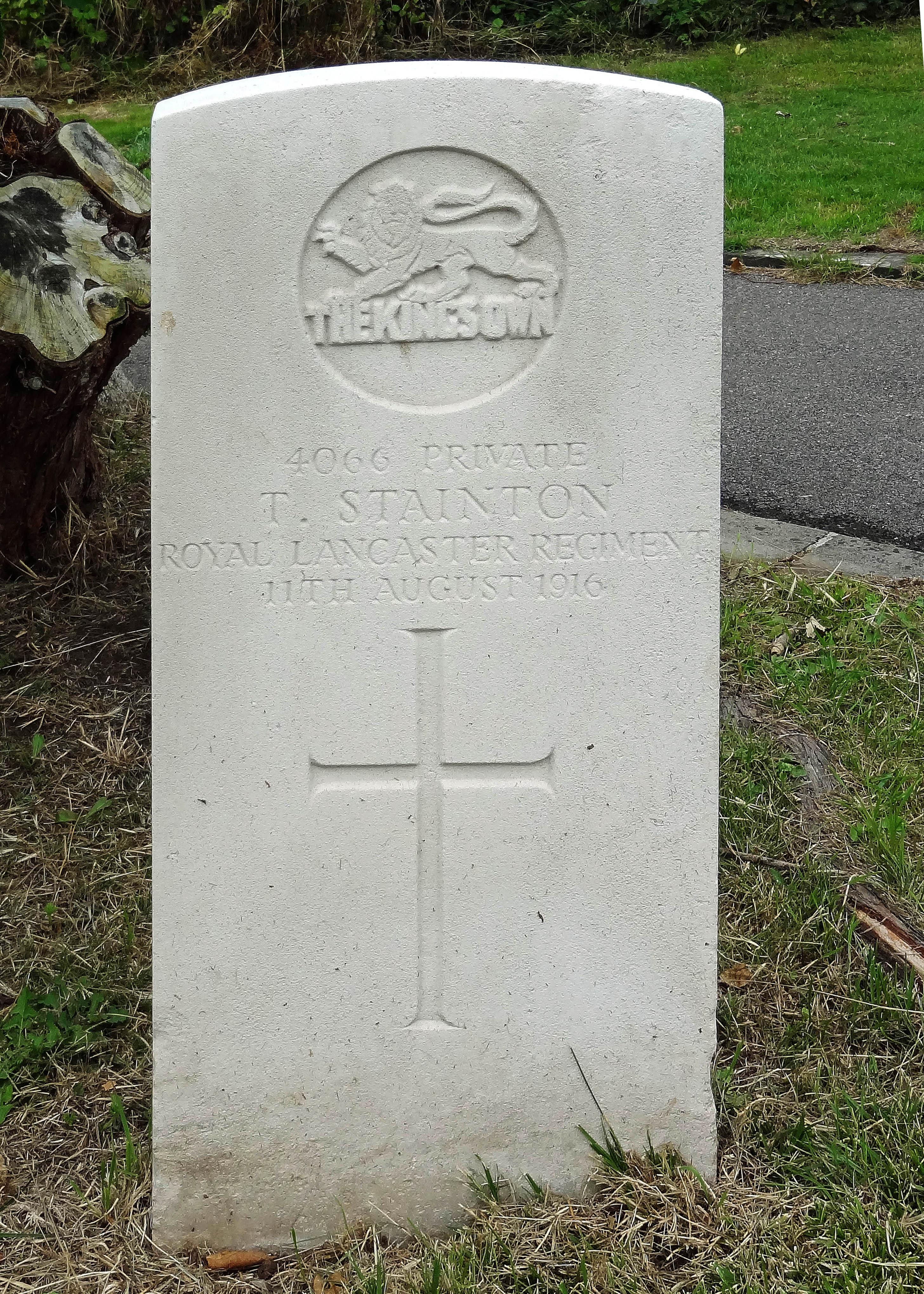 Pvt T Stainton