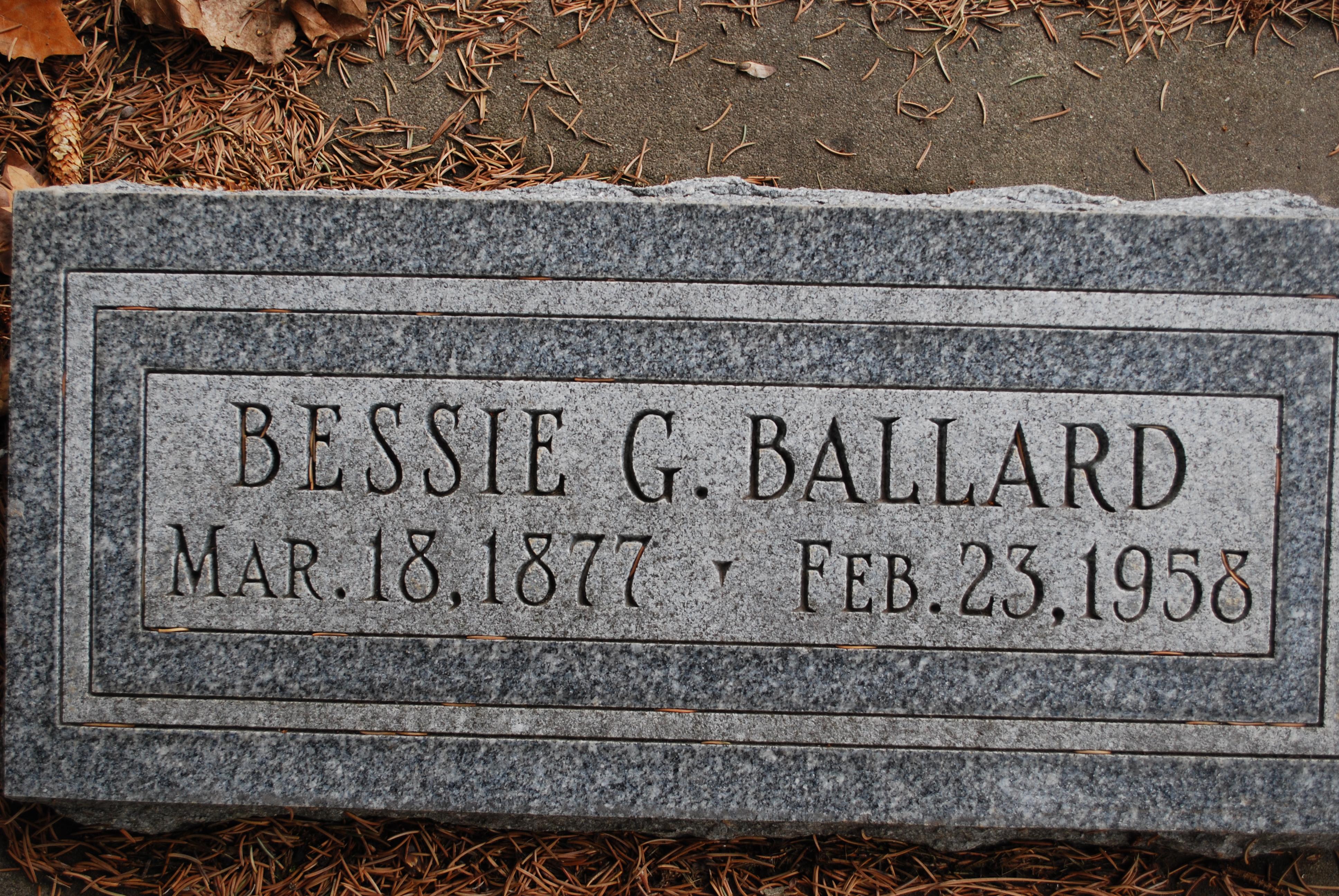 Bessie <i>Griffin</i> Ballard