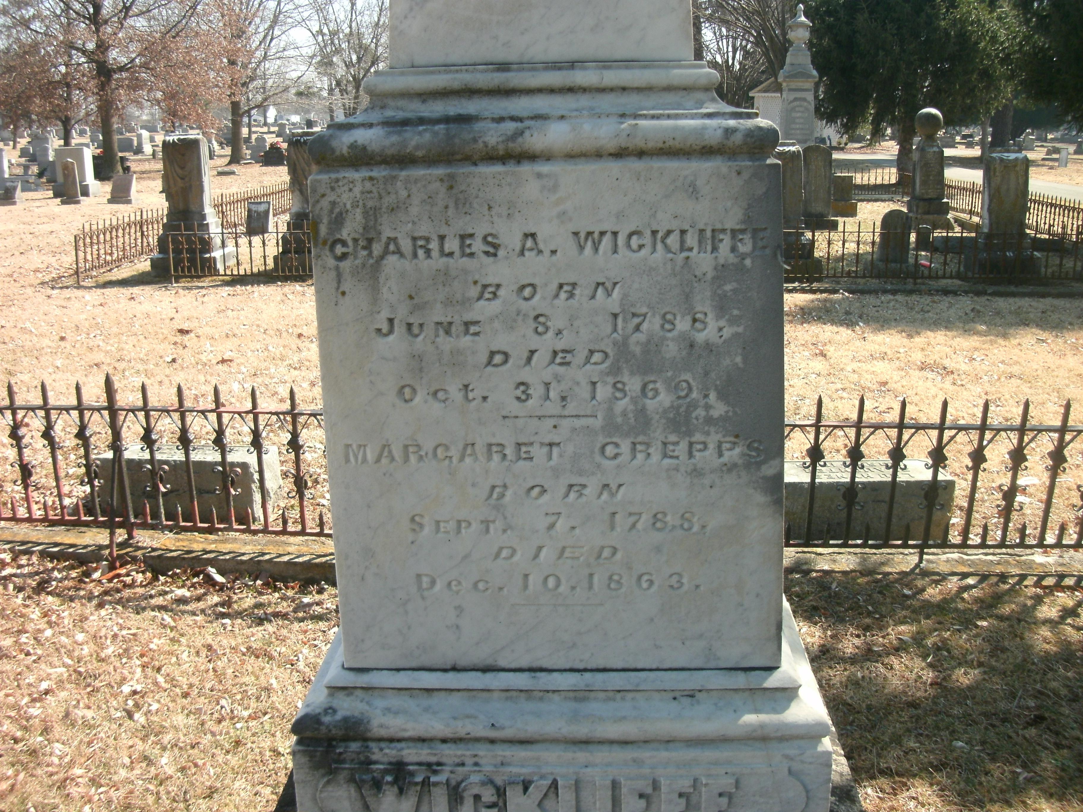 Margaret <i>Crepps</i> Wickliffe