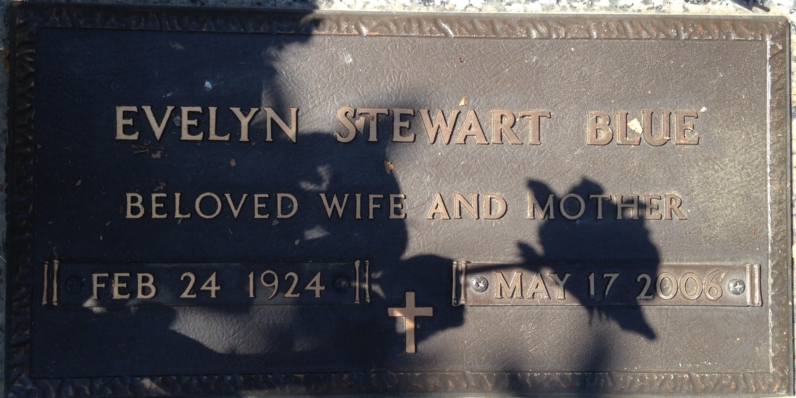 Florence Evelyn <i>Stewart</i> Blue