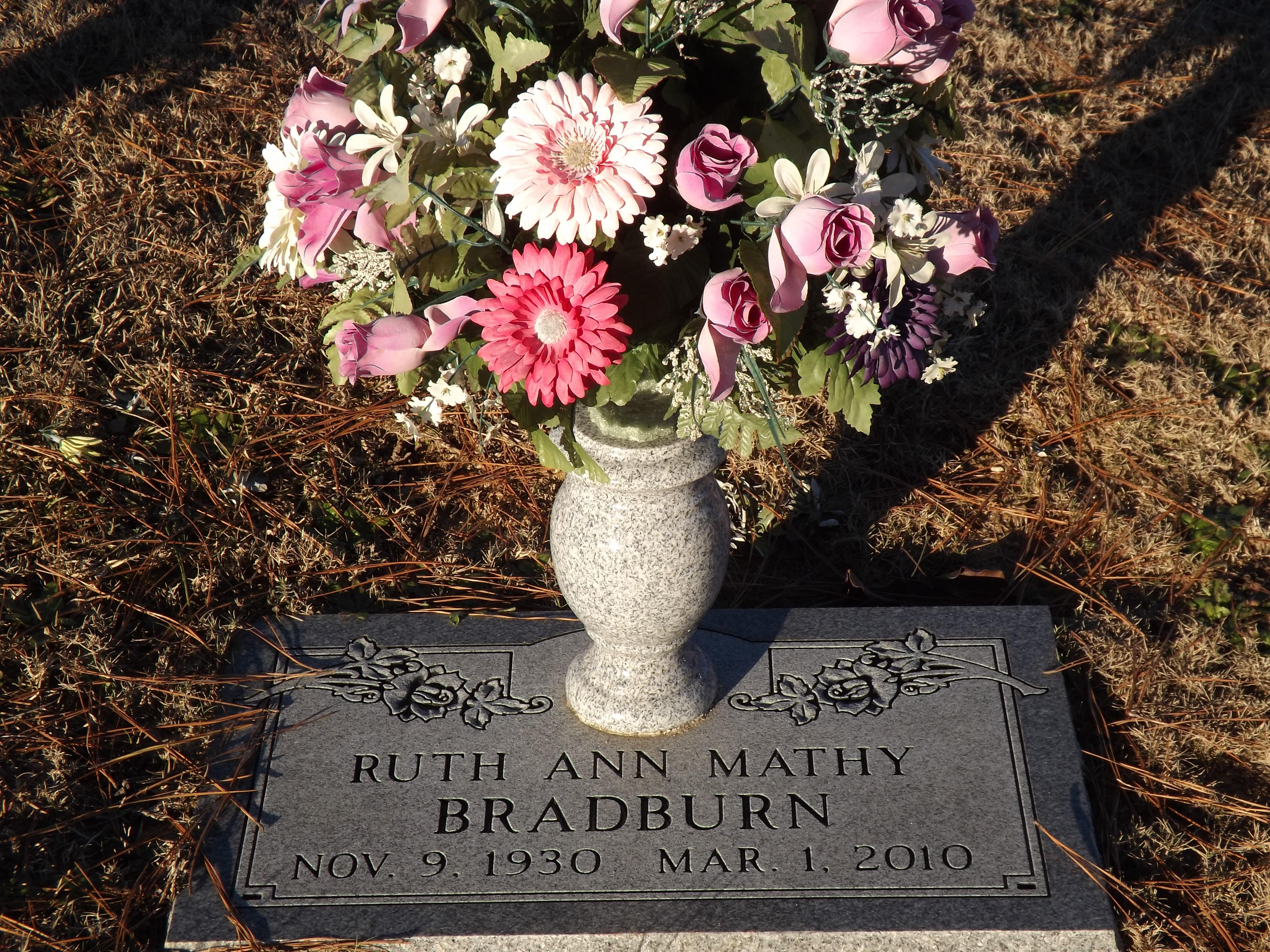 Ruth Ann Mathy Bradburn (1930-2010) - Find A Grave Memorial