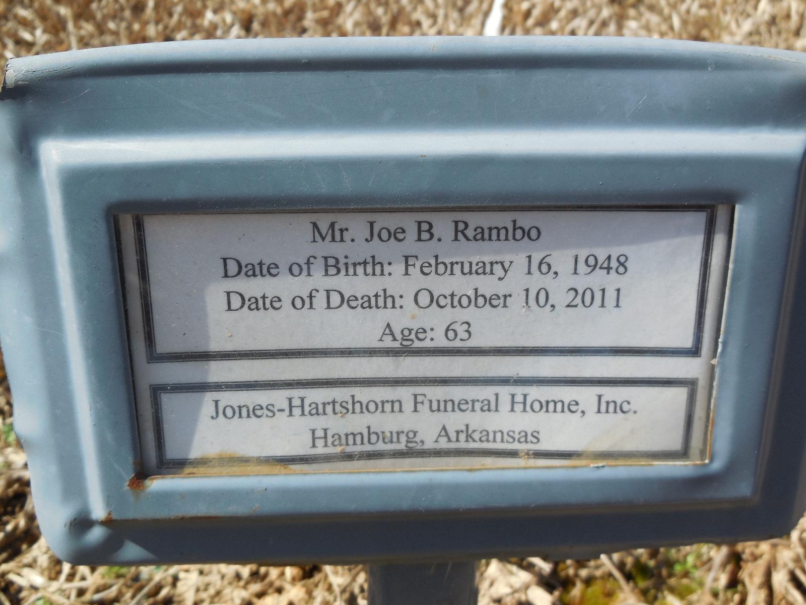 Joe Burley Rambo (1948-2011) - Find A Grave Memorial