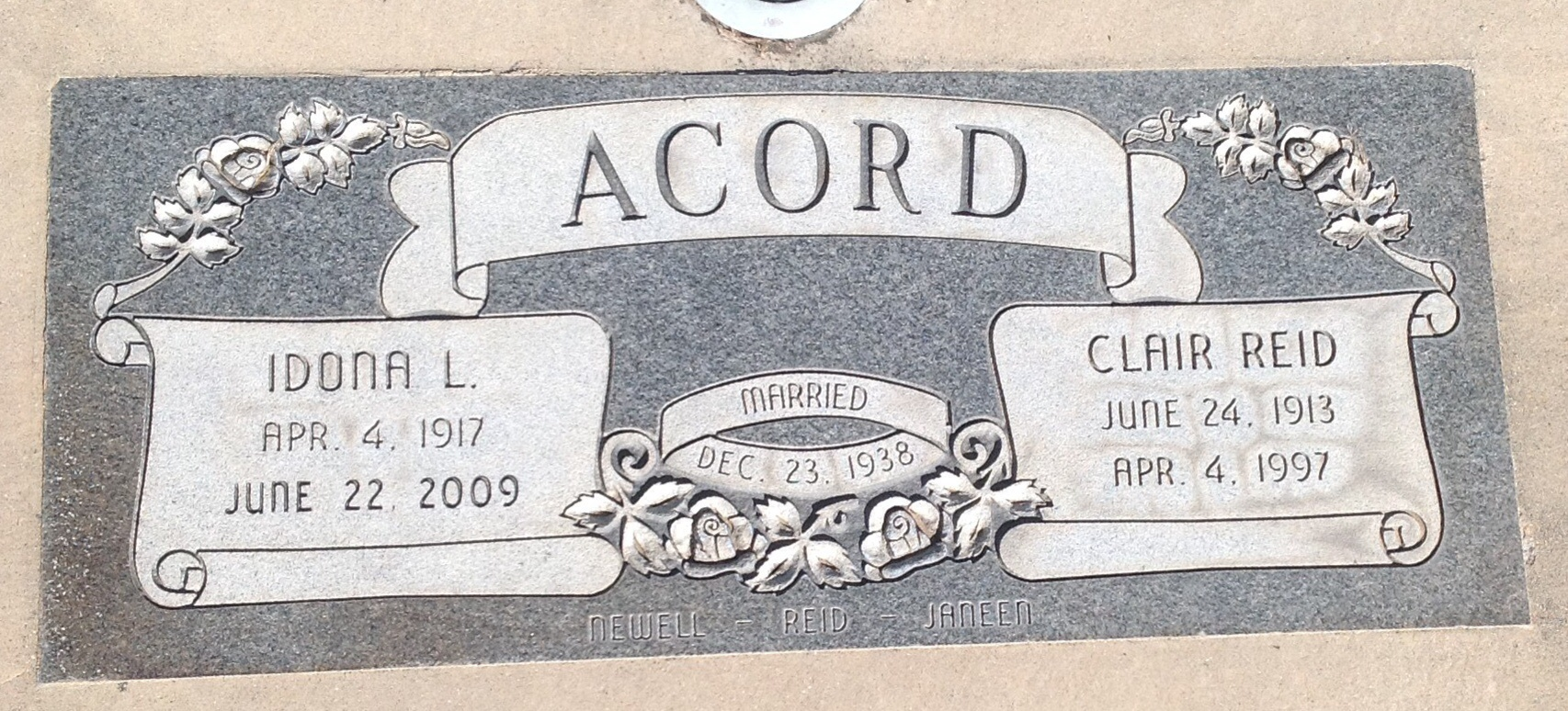 Clair Reed Acord