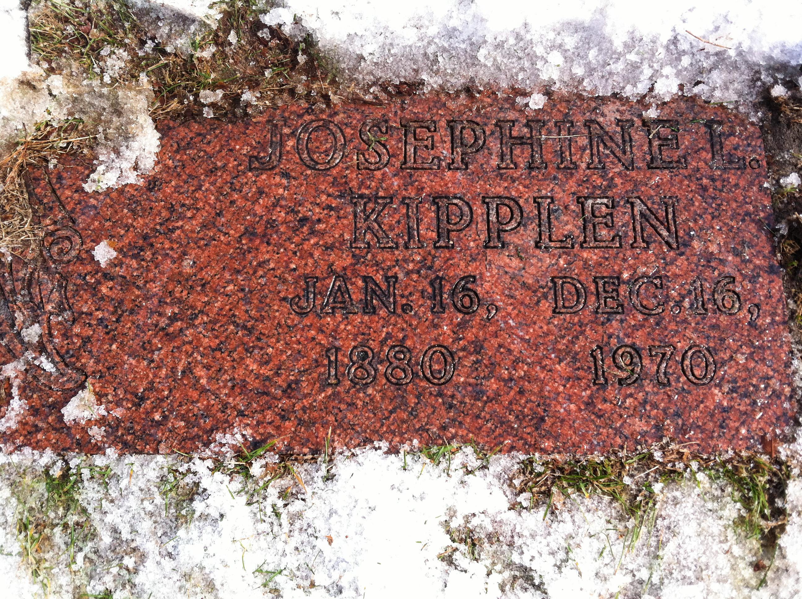Letitia Josephine Josephine <i>Stykemain</i> Kipplen