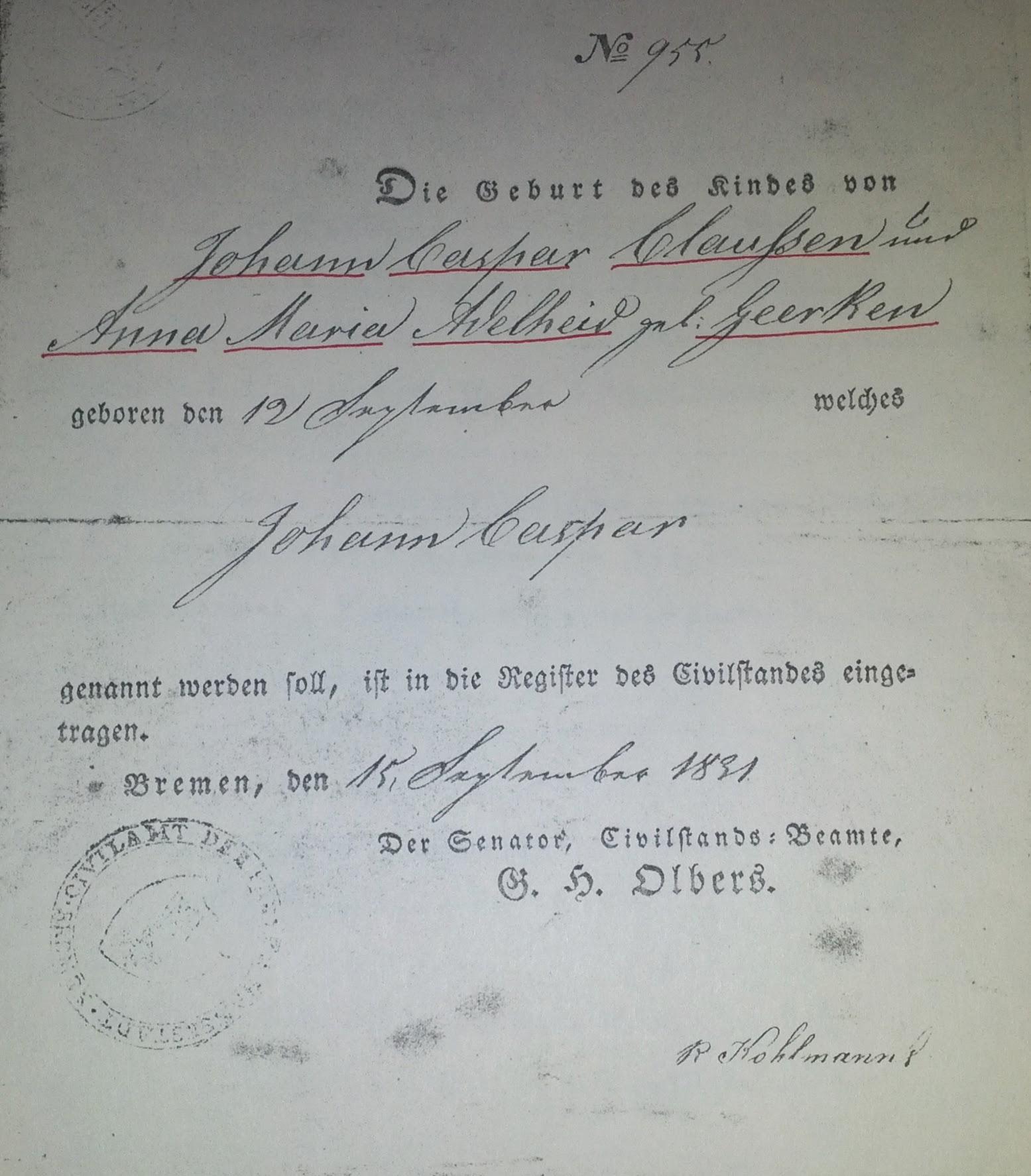 John Casper Claussen 1831 1895 Find A Grave Memorial