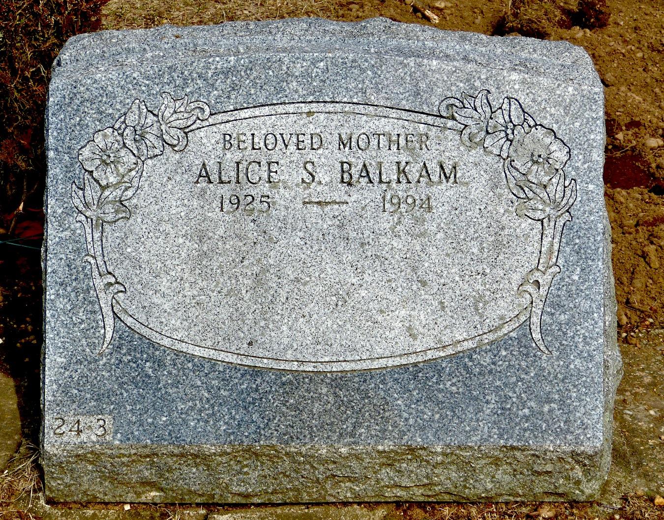 Alice S. <i>Newmark</i> Balkam