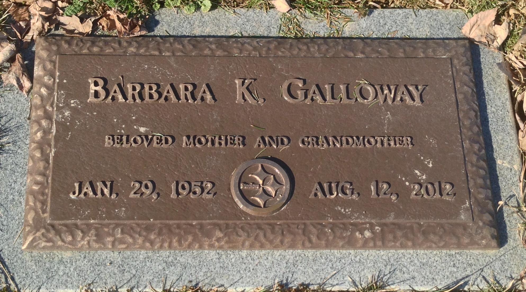 Barbara Kay <i>Lovejoy</i> Galloway