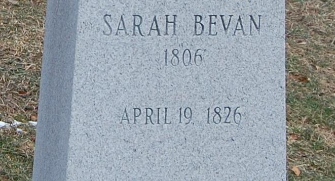 Sarah <i>Eckhart</i> Bevans