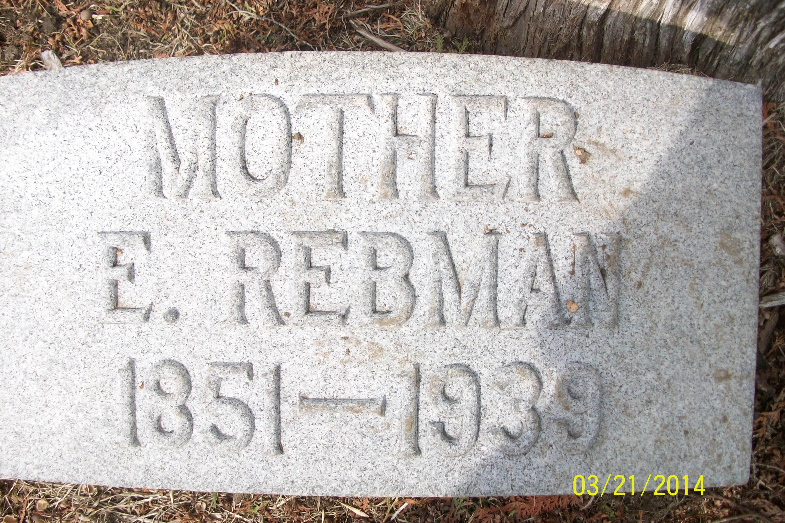 Emma <i>McDonald</i> Rebman