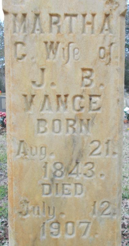 Martha C. <i>Heffington</i> Vance