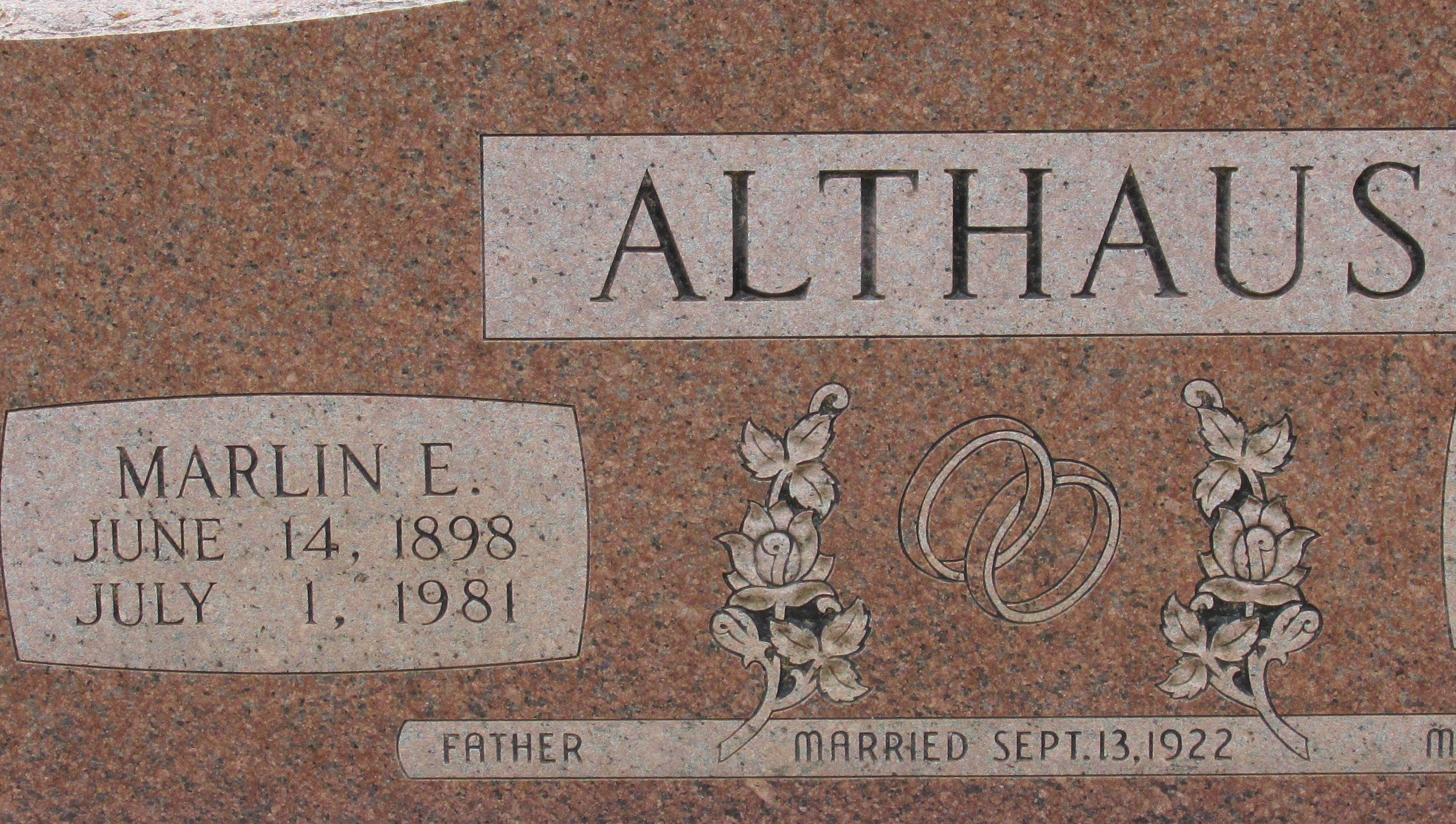 Marlin Ernest Althaus