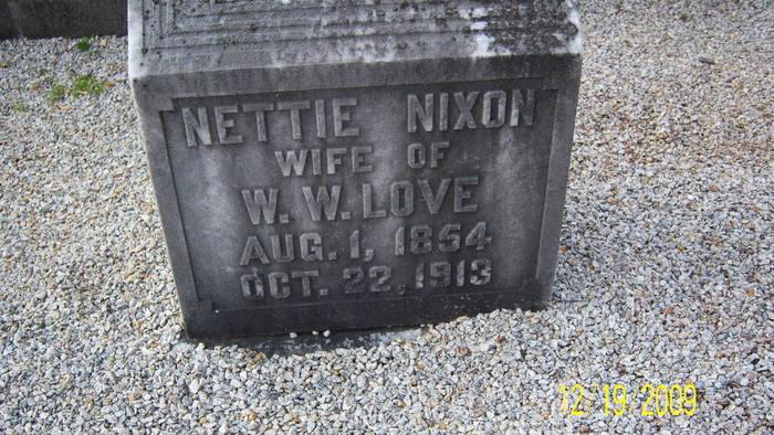 Nancy Antinett Nettie <i>Nixon</i> Love