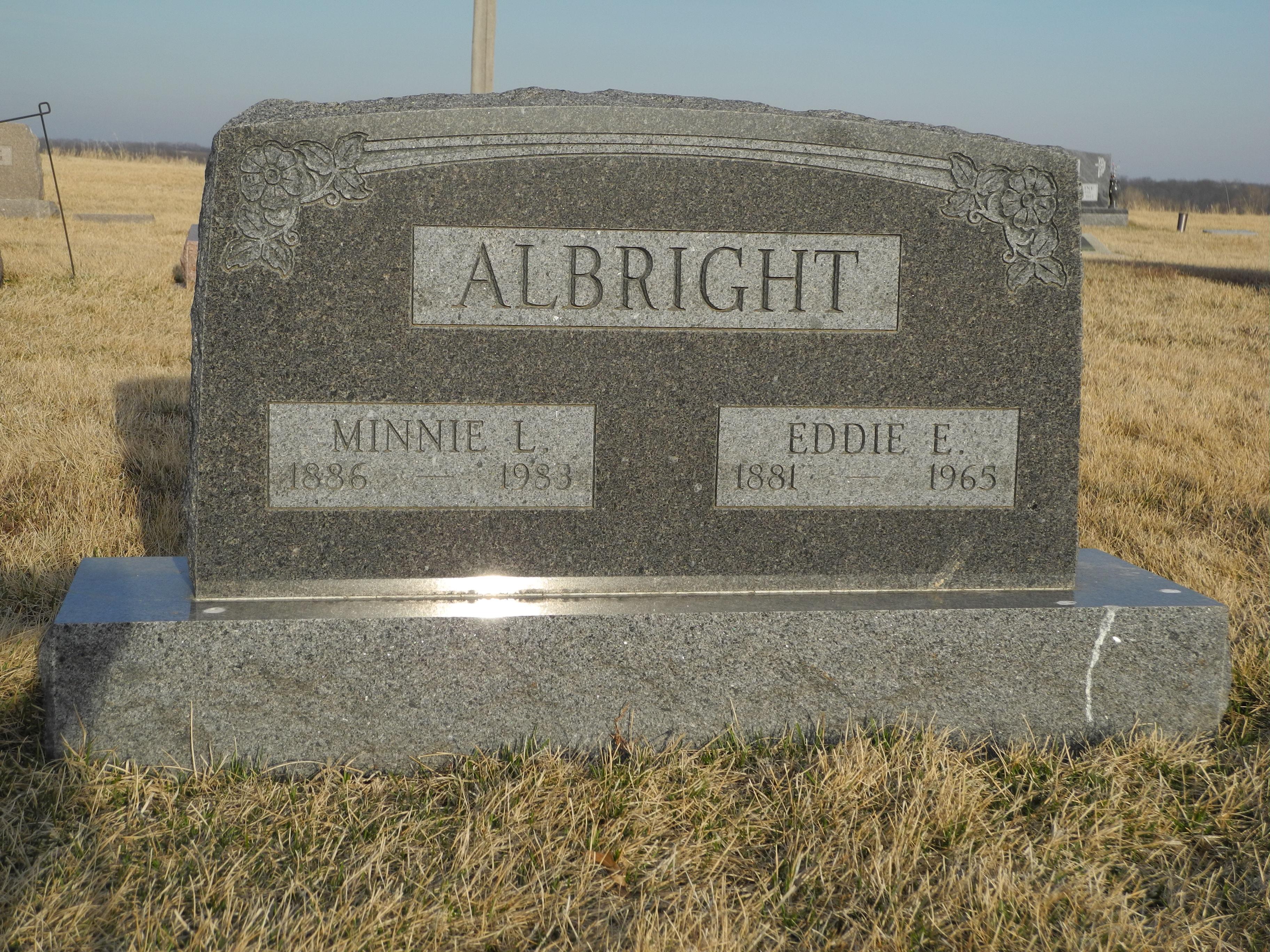 Minnie L <i>Vance</i> Albright