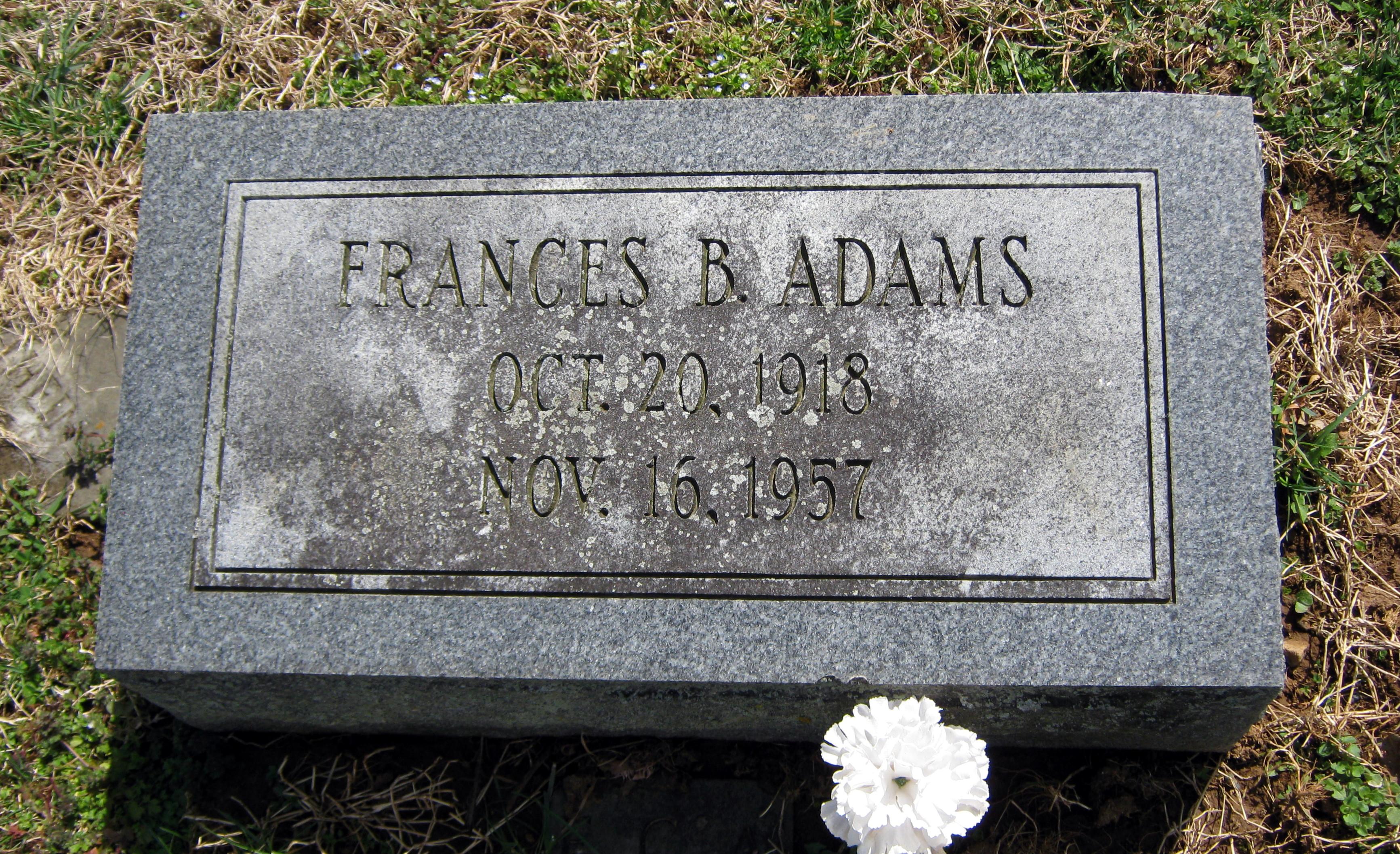 Frances B. Adams