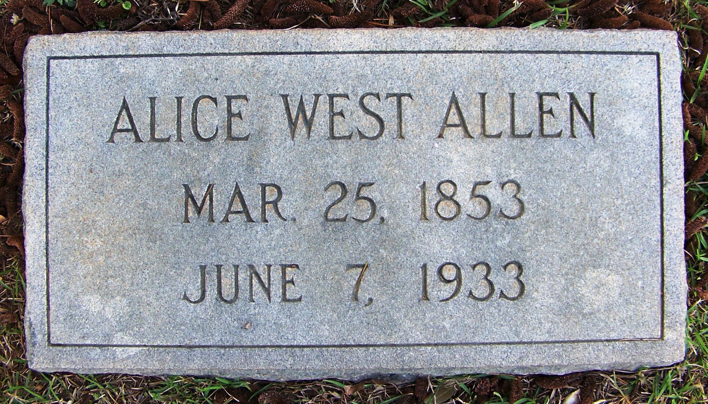 Alice <i>West</i> Allen
