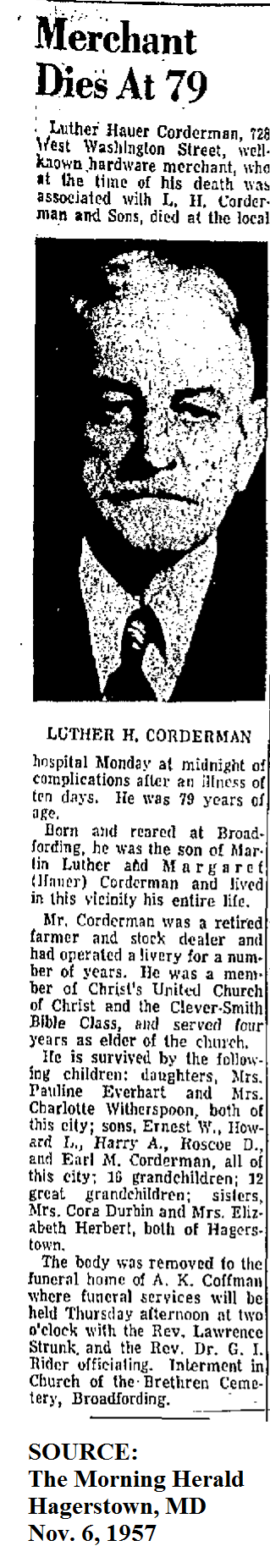 Luther Hauer Corderman