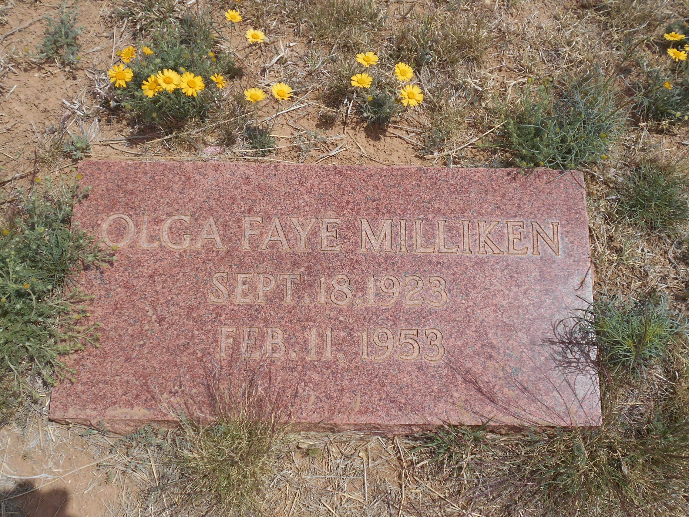 Olga Faye <i>Taylor</i> Milliken