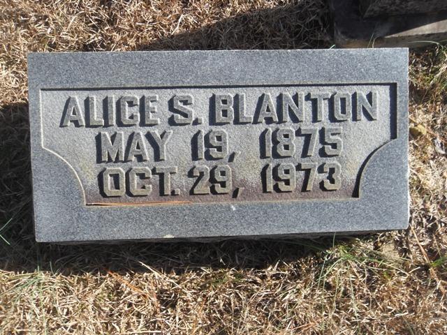 Alice E <i>Shumaker</i> Blanton