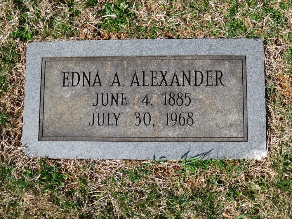 Edna A <i>Hutzell</i> Alexander