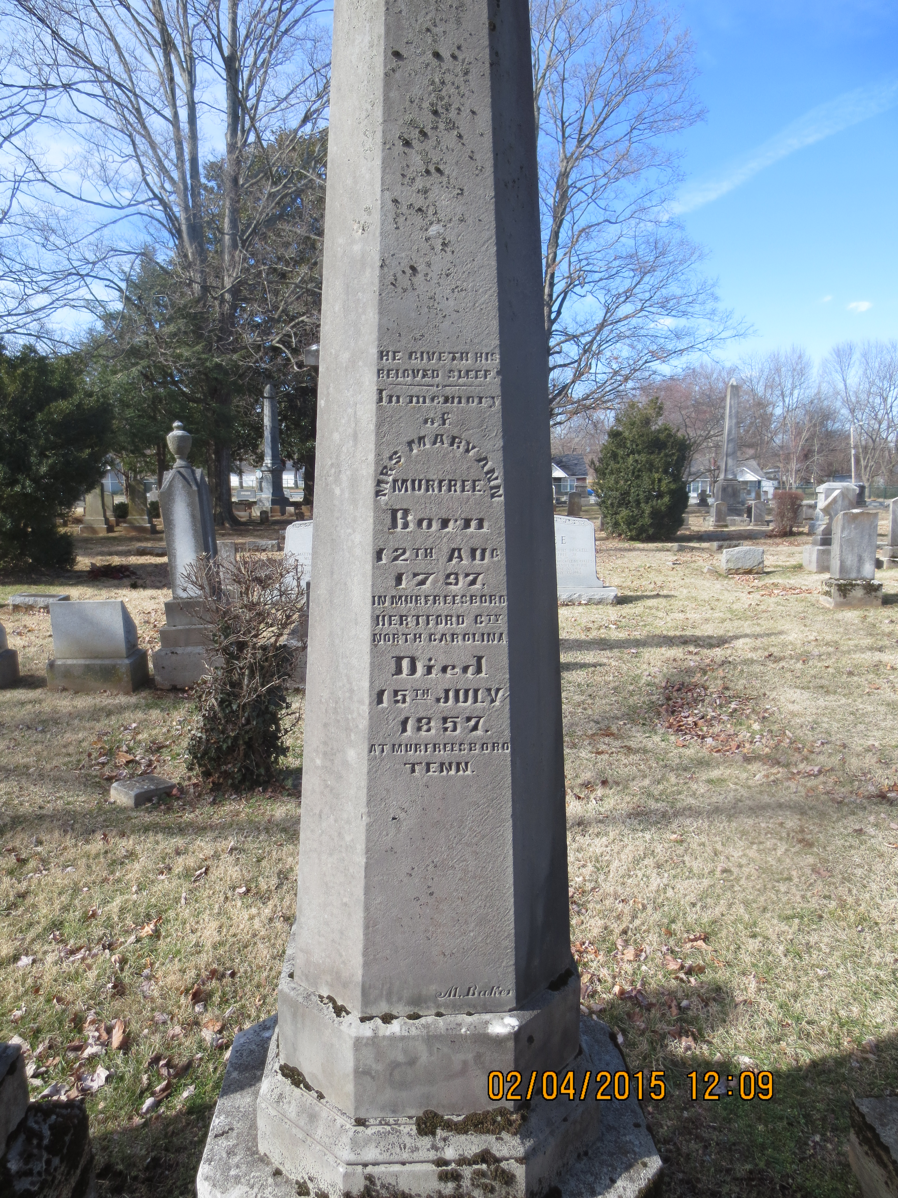 Mary Ann <i>Roberts</i> Murfree