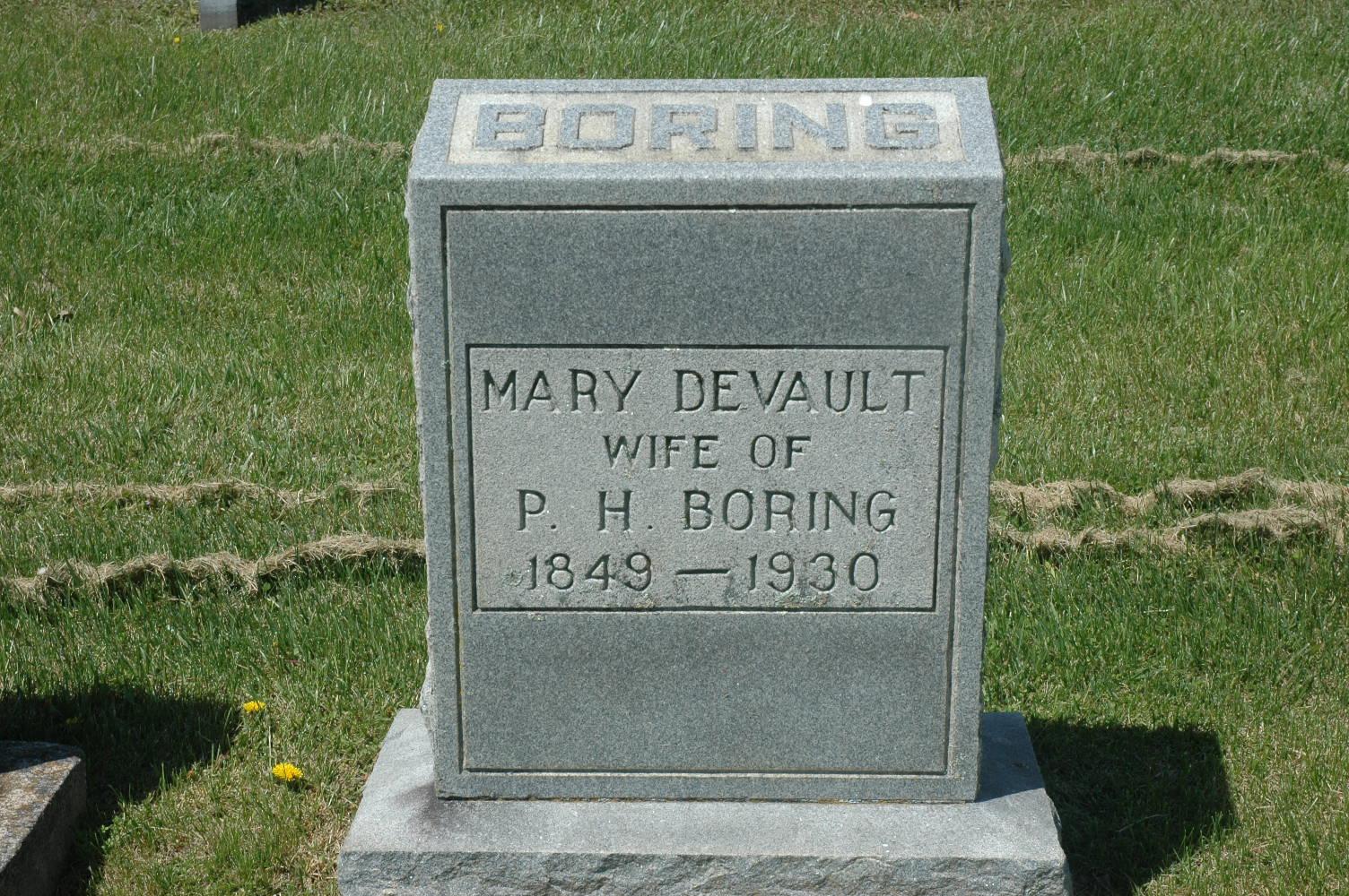 Mary A <i>DeVault</i> Boring