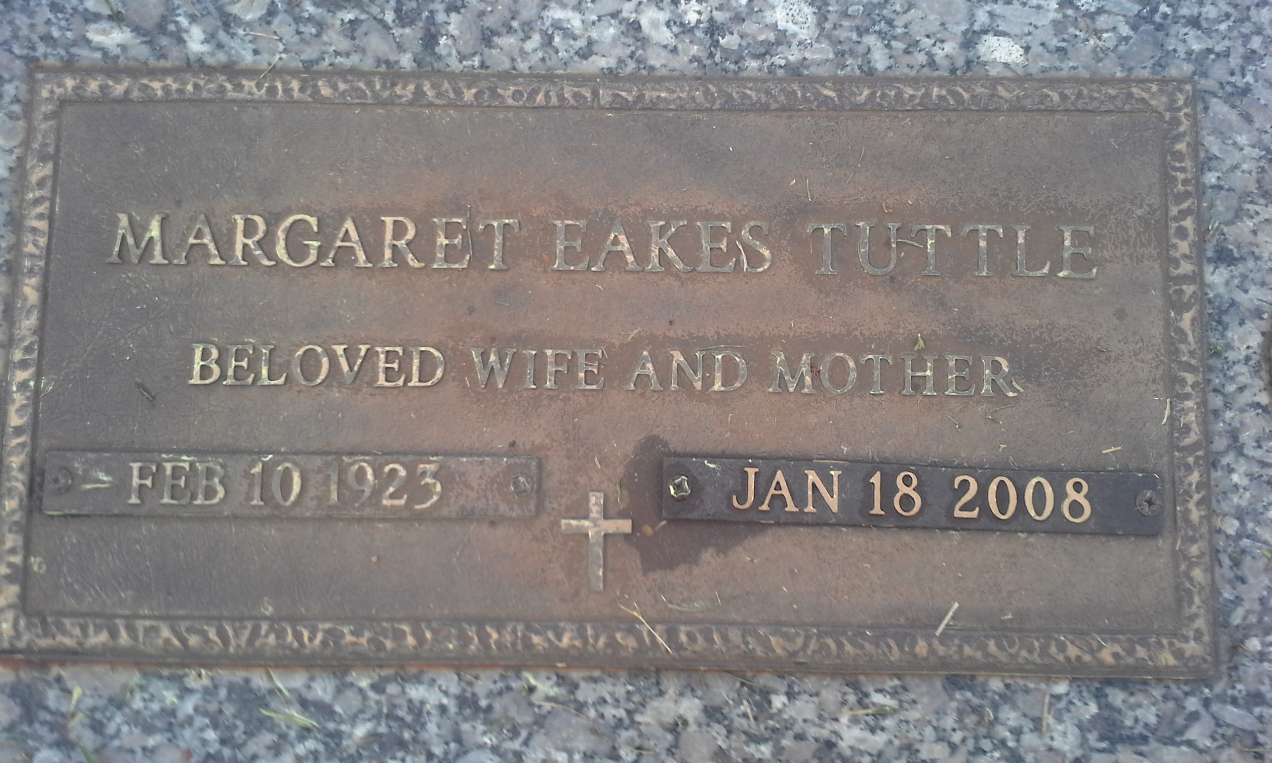 Margaret <i>Eakes</i> Tuttle