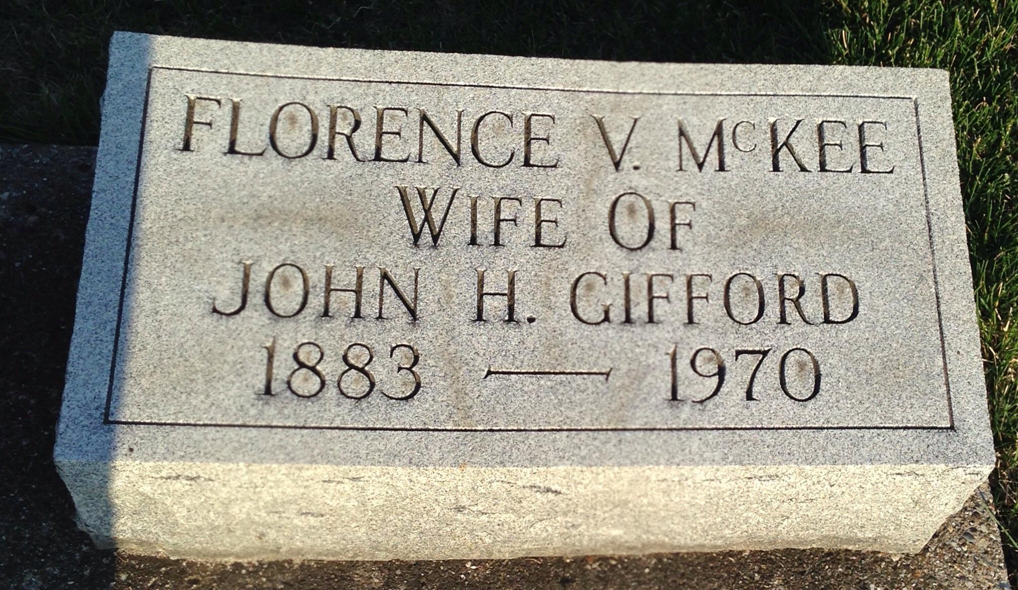 Florence <i>McKee</i> Gifford
