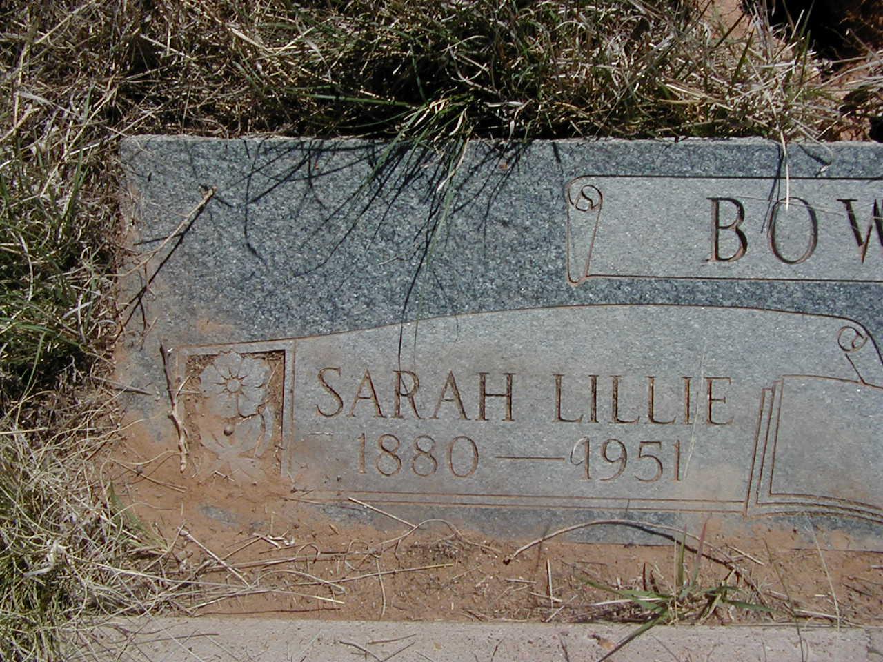 Sarah Lillie Bowlin