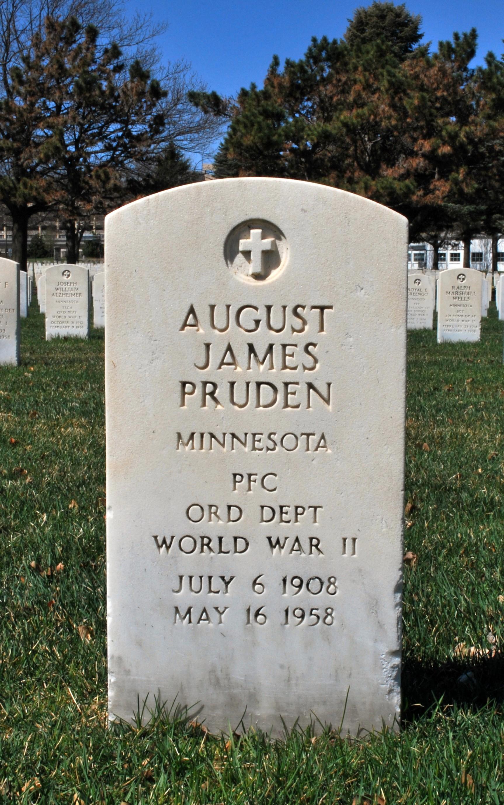 PFC August James Pruden, Jr