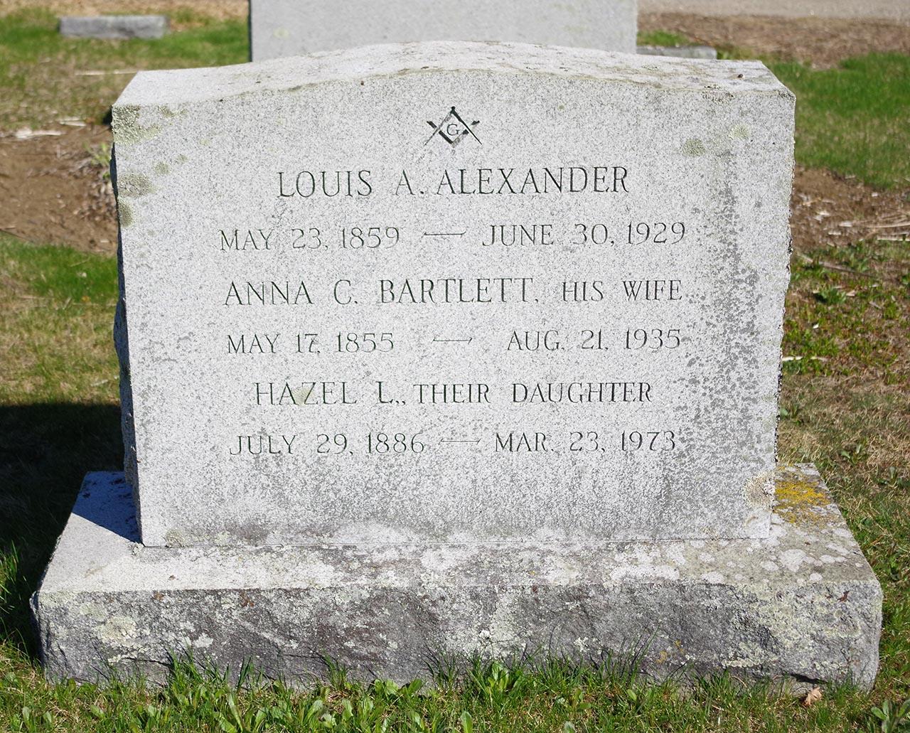 Anna C <i>Bartlett</i> Alexander