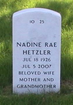 Nadine Rae <i>Primmer</i> Hetzler