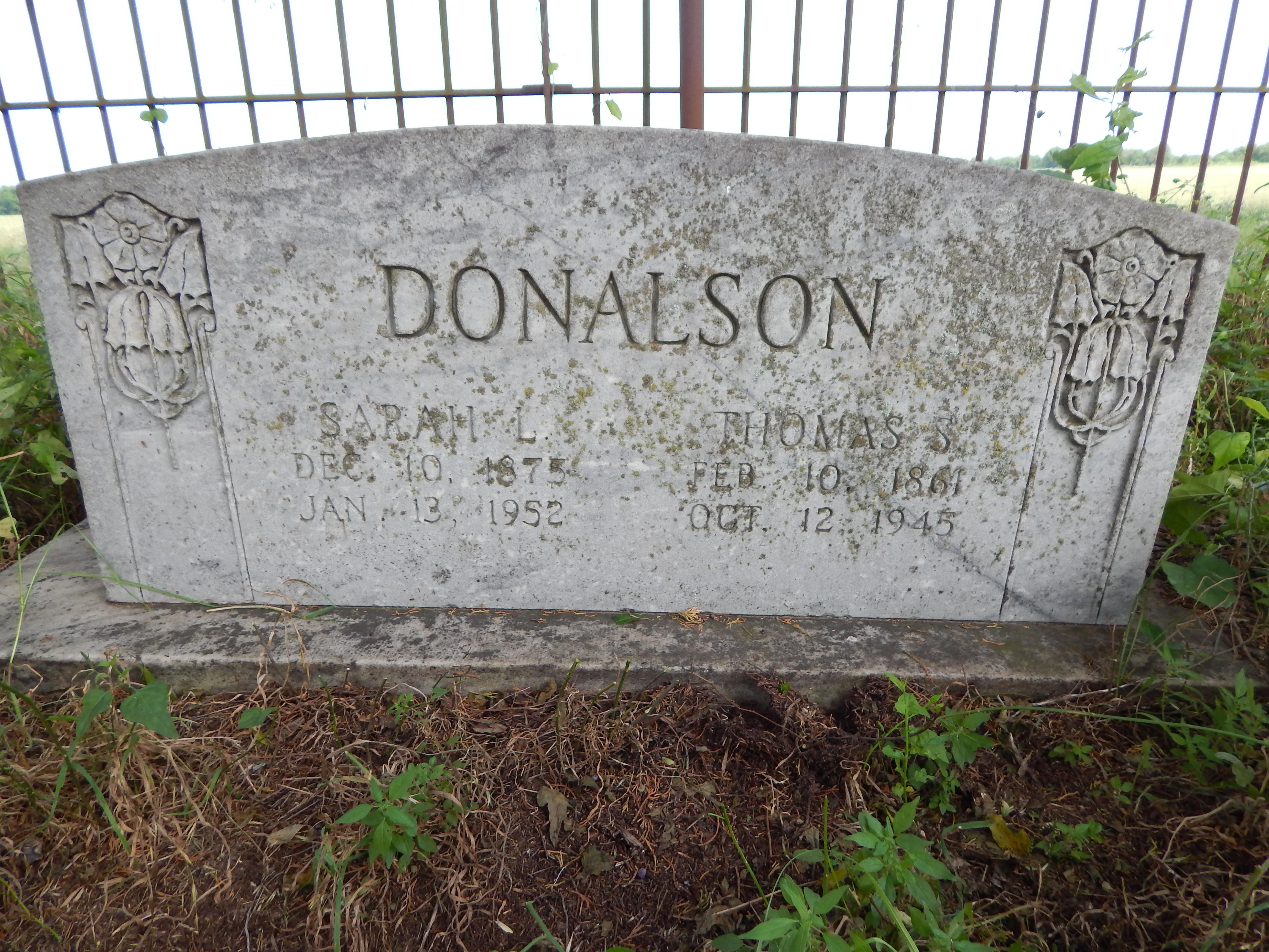 Sarah L. Sallie <i>Hall</i> Donalson
