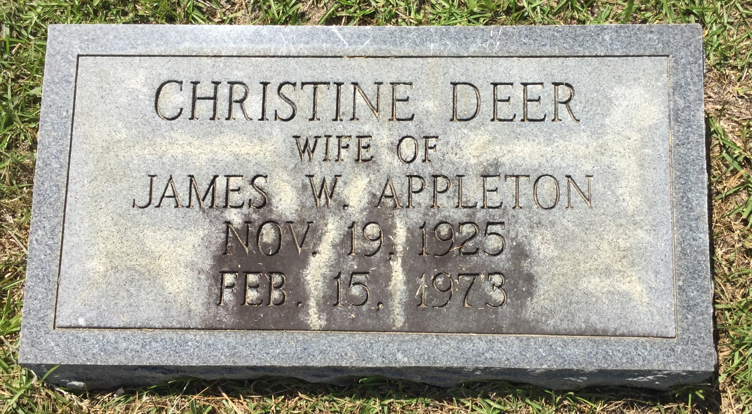 Dorothy Christine Christine <i>Deer</i> Appleton