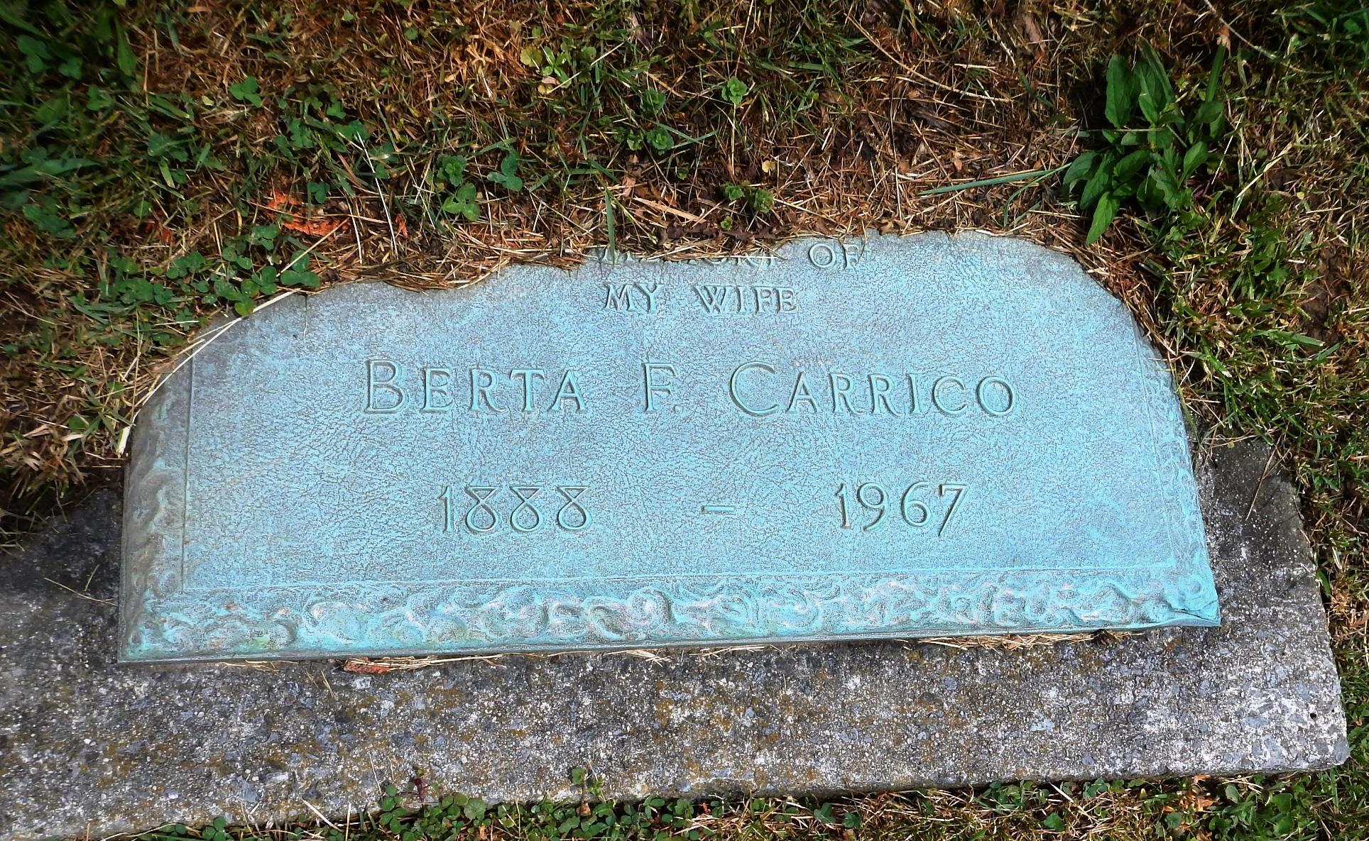 Berta Frances <i>Lipscomb</i> Carrico