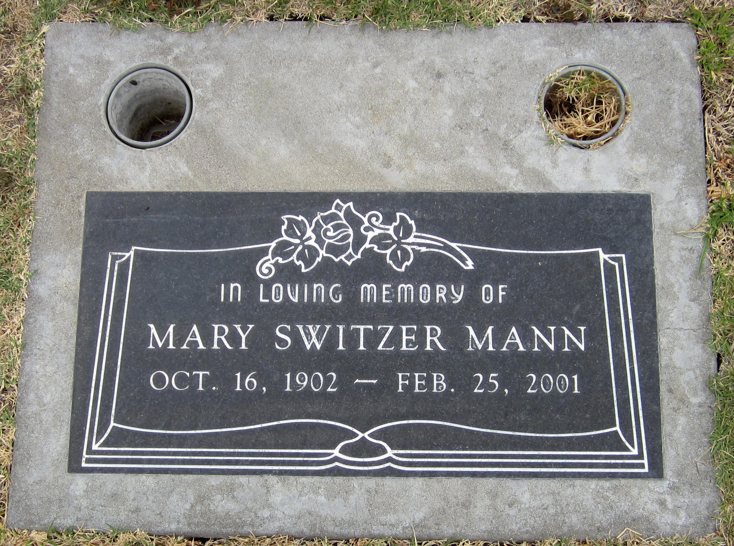 Mary <i>Switzer</i> Mann