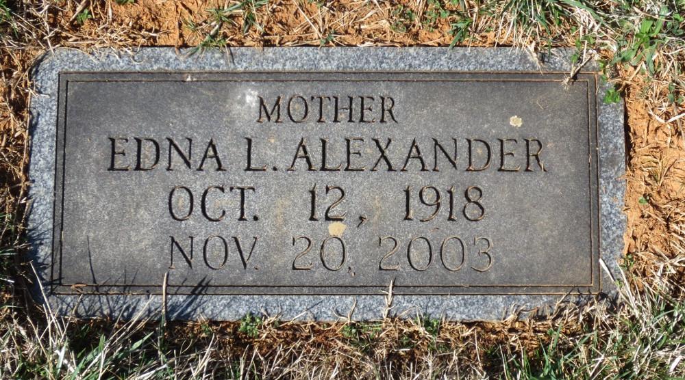 Edna Louise <i>Lowe</i> Alexander