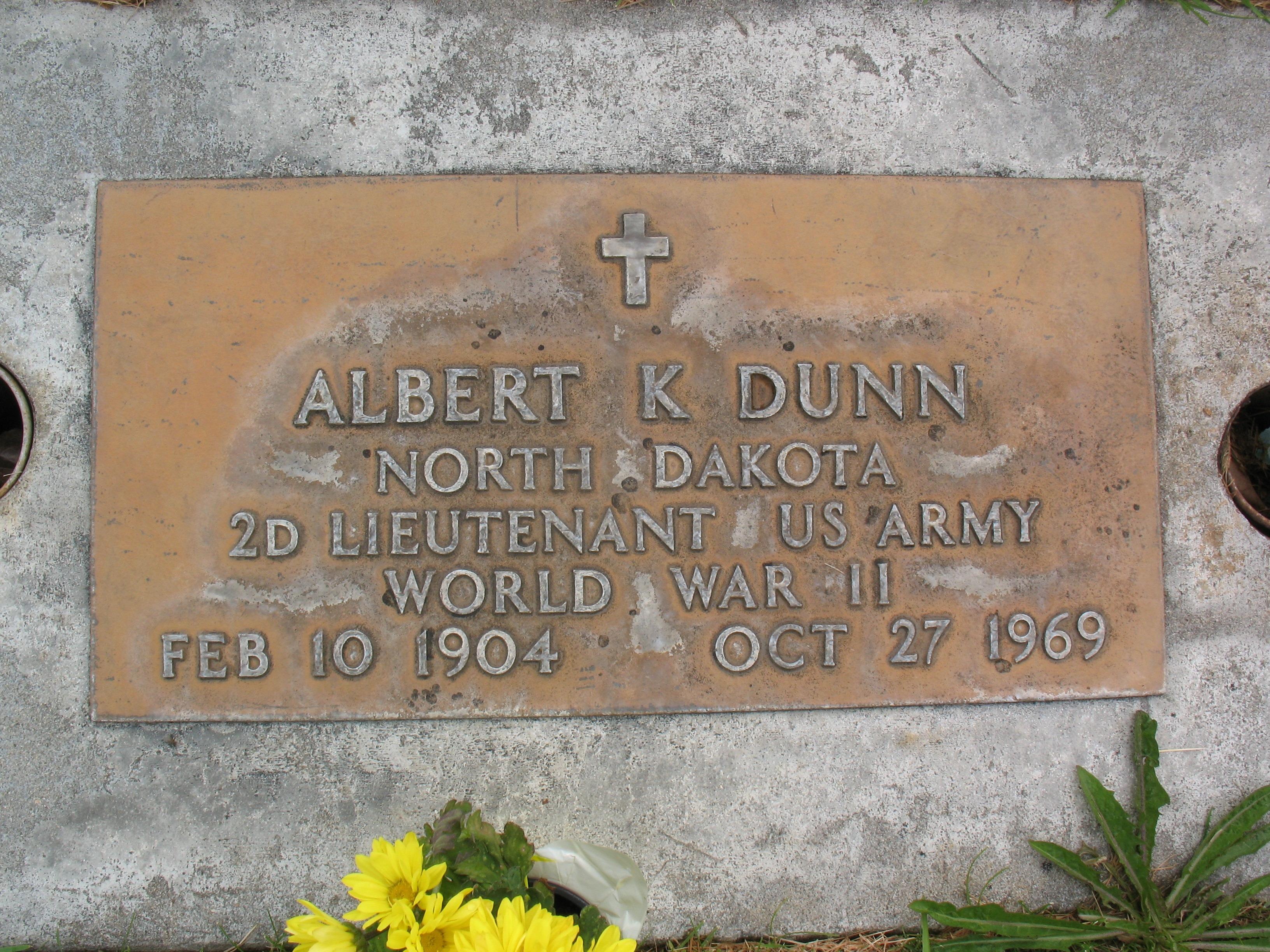 Albert K Dunn