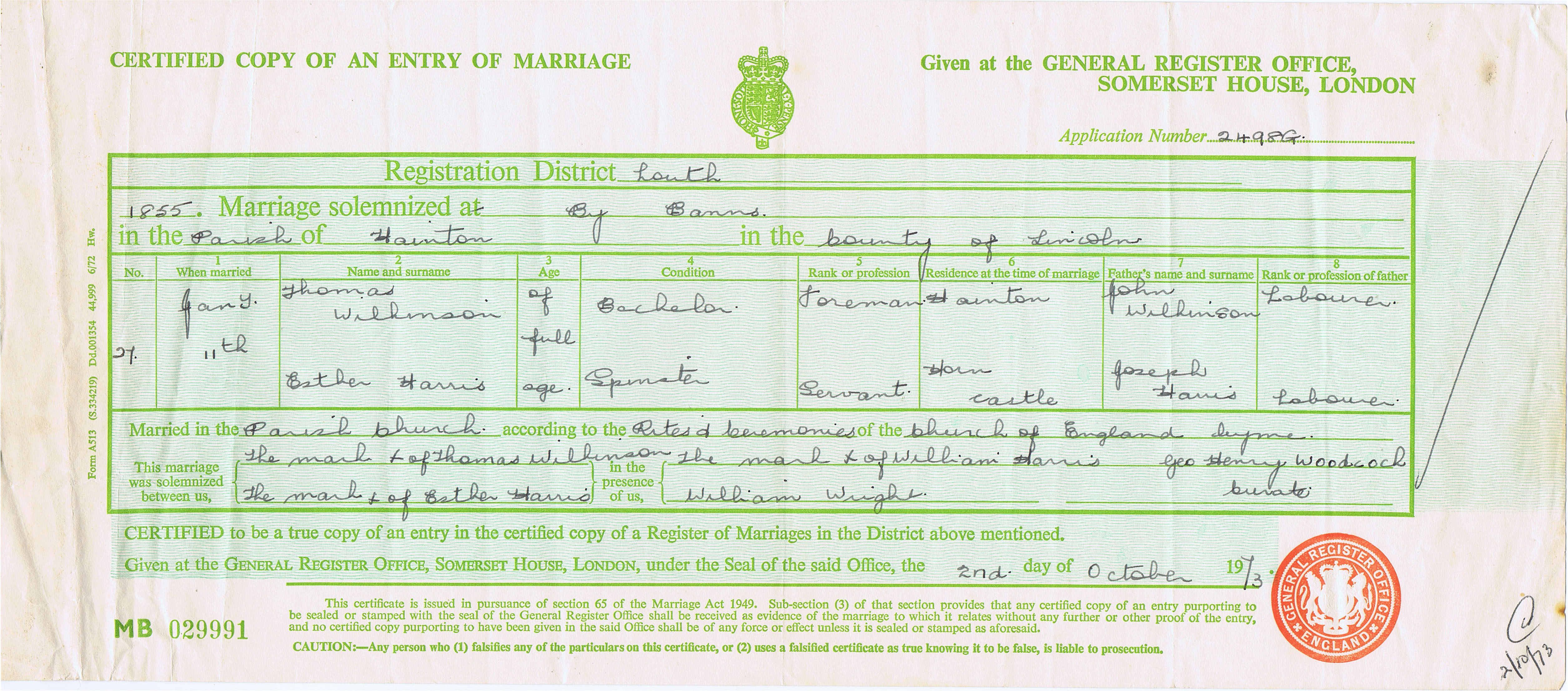 Thomas wilkinson 1832 1910 find a grave memorial marriage certificate aiddatafo Choice Image