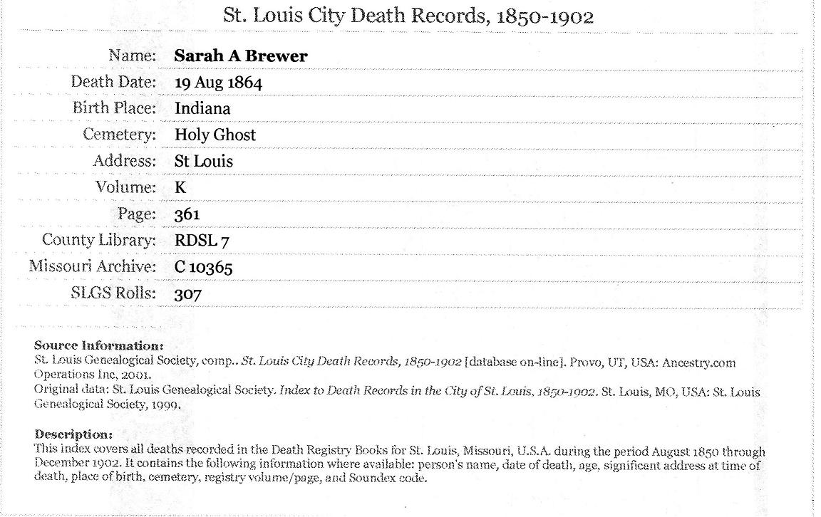 Best St Louis County Mo Death Records Image Collection