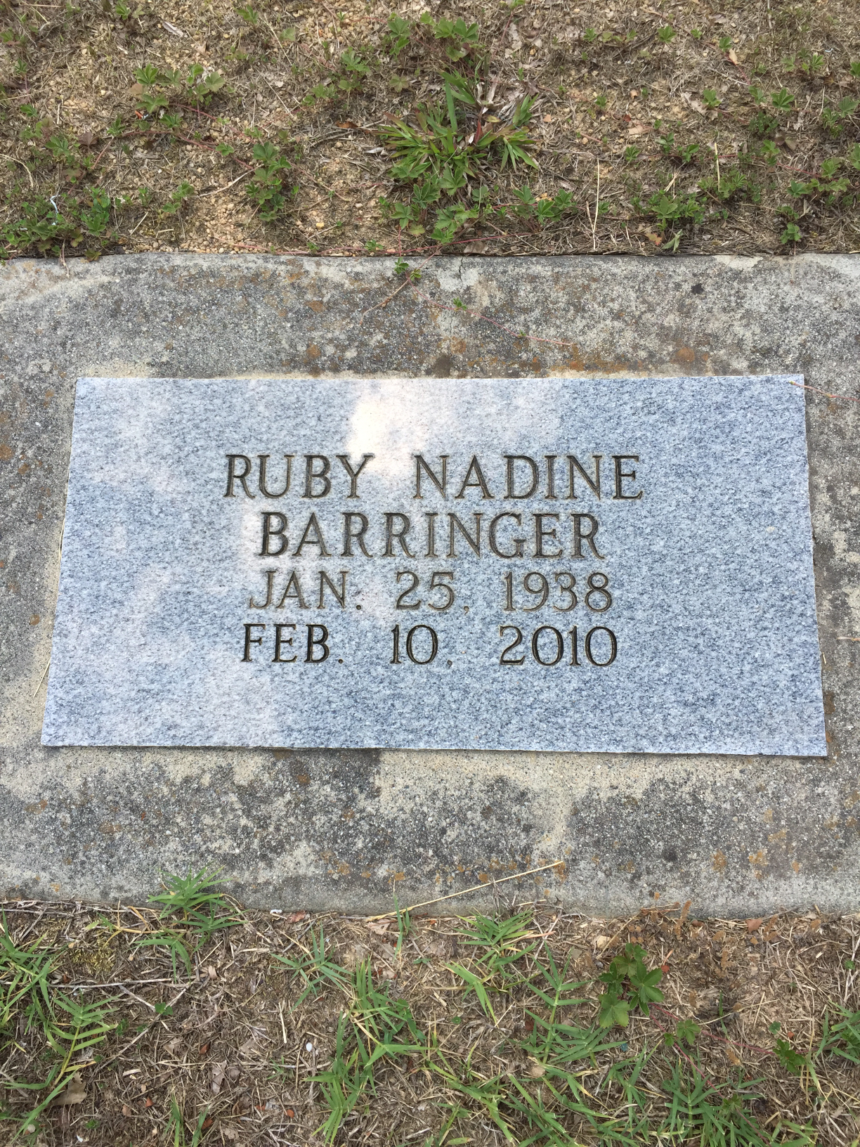 Ruby Nadine Barringer
