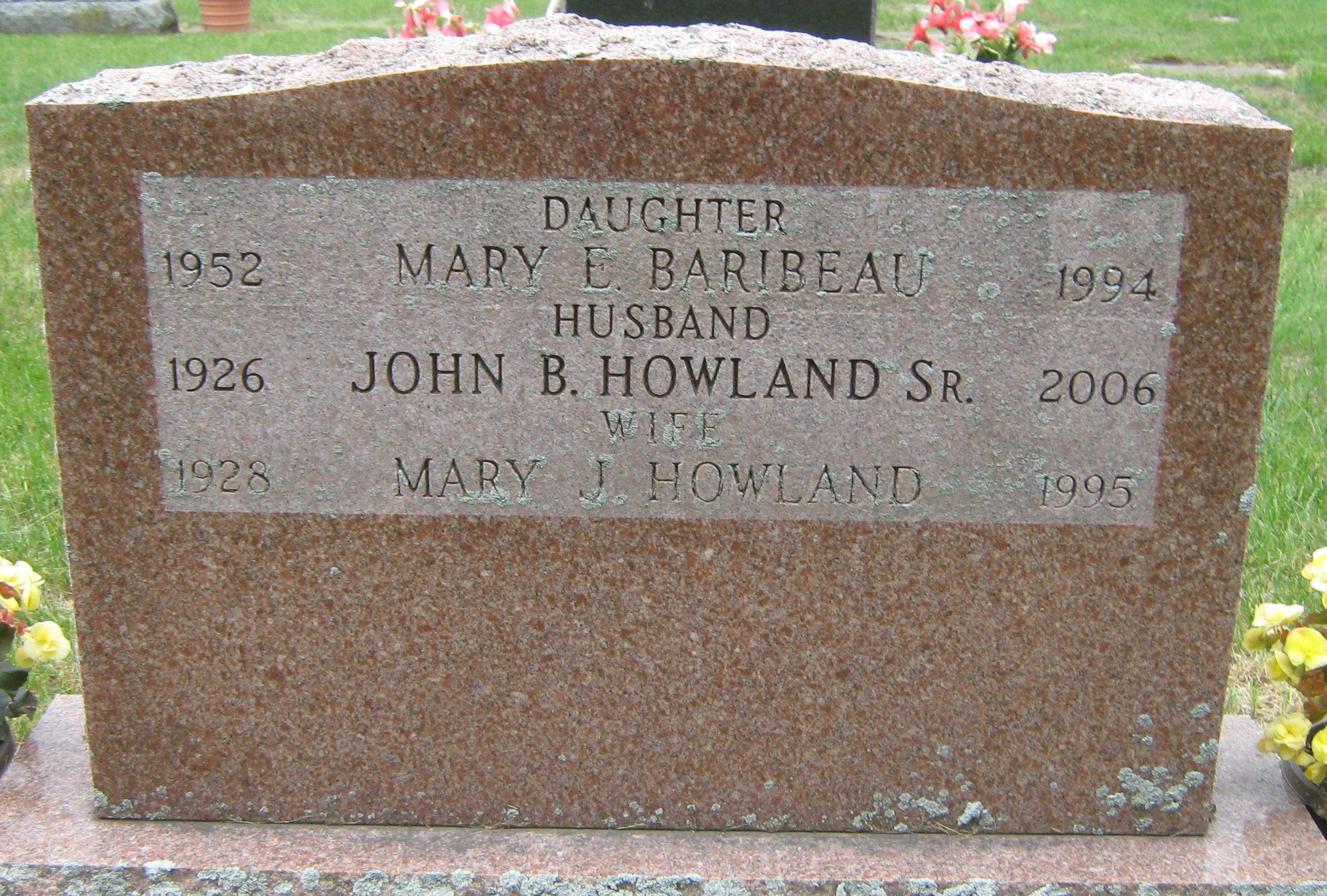 Mary E. <i>Howland</i> Baribeau