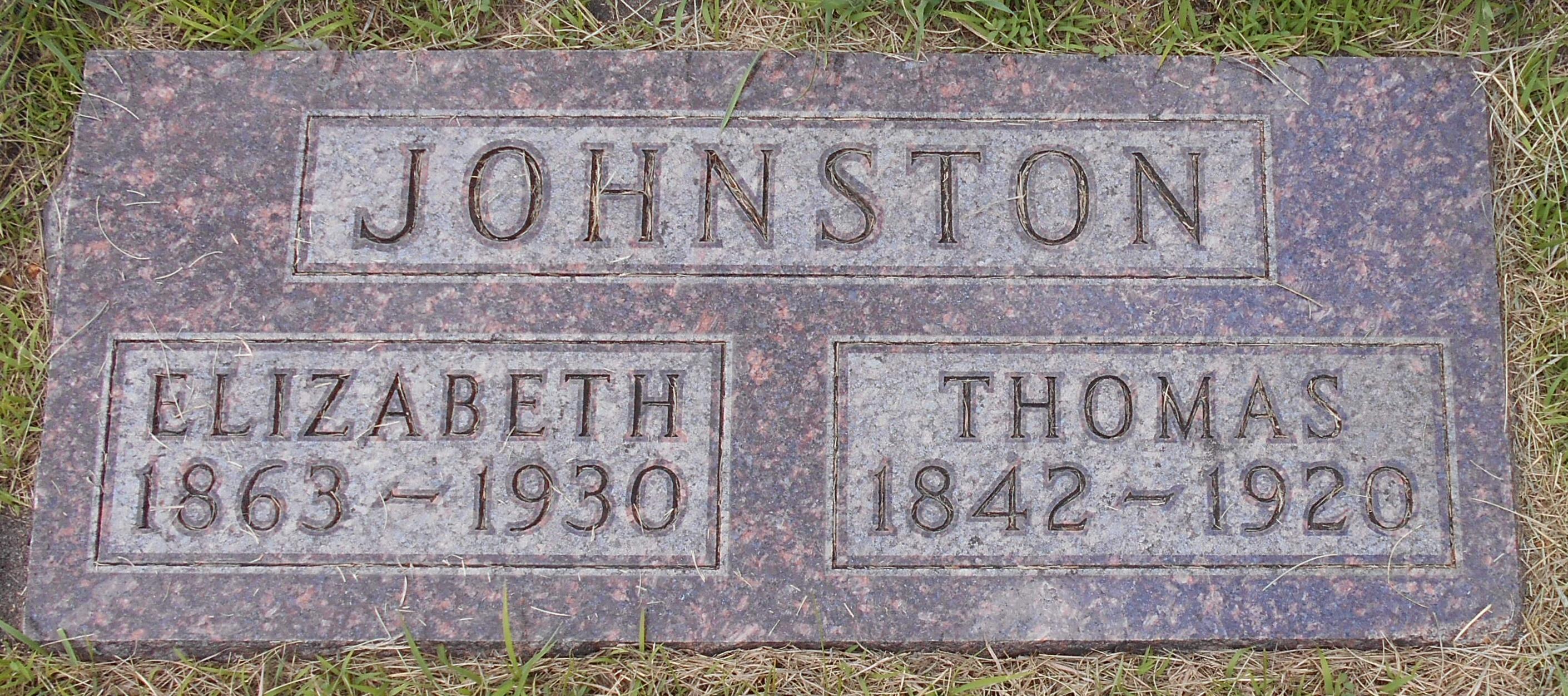 Elizabeth Clelland <i>Hendrie</i> Johnston