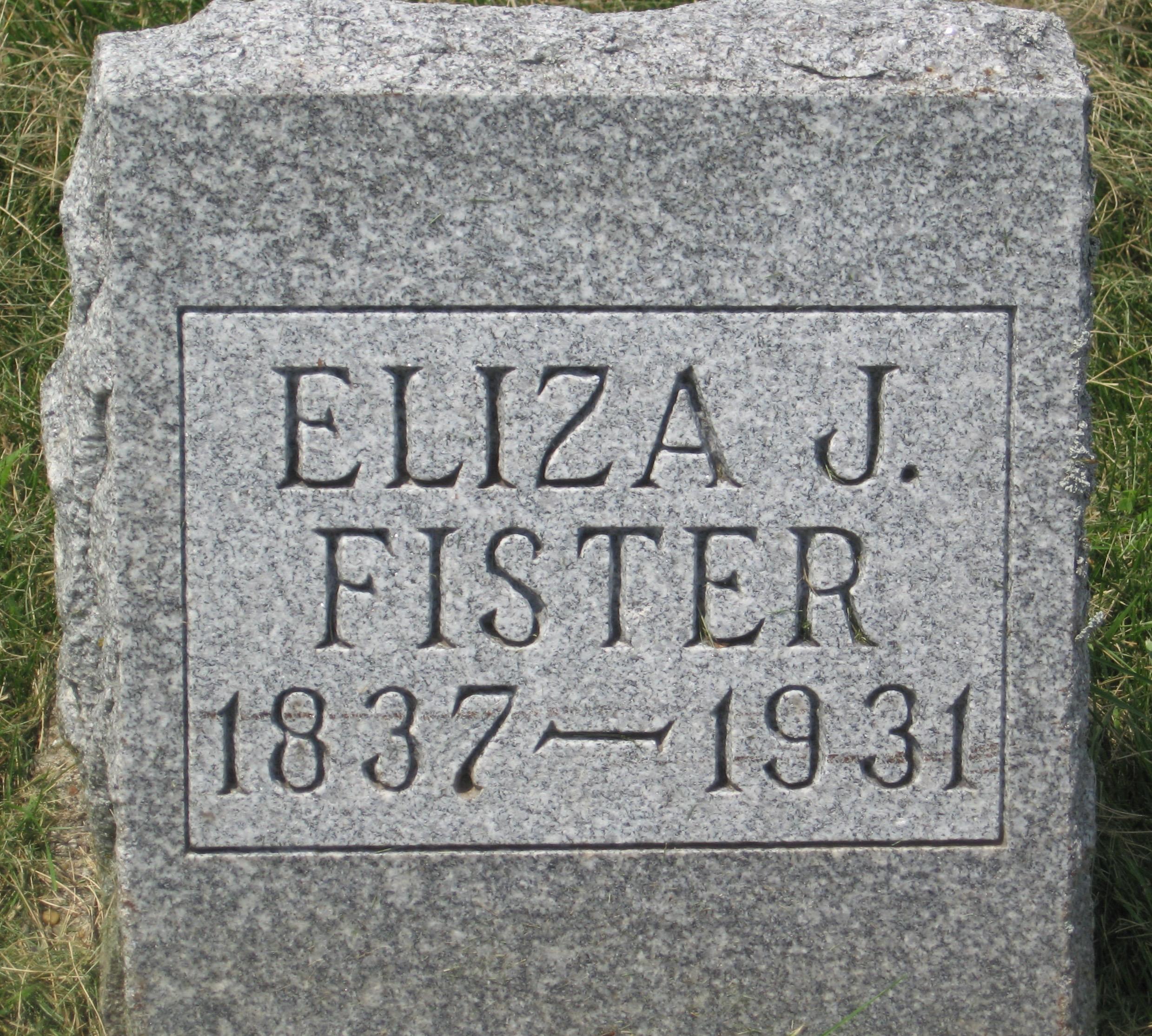 Eliza Jane <i>Hoover</i> Fister