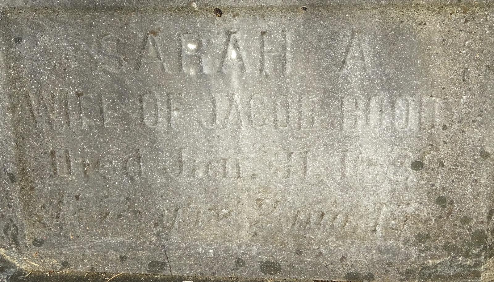 Sarah Ann <i>Lawrence</i> Boody