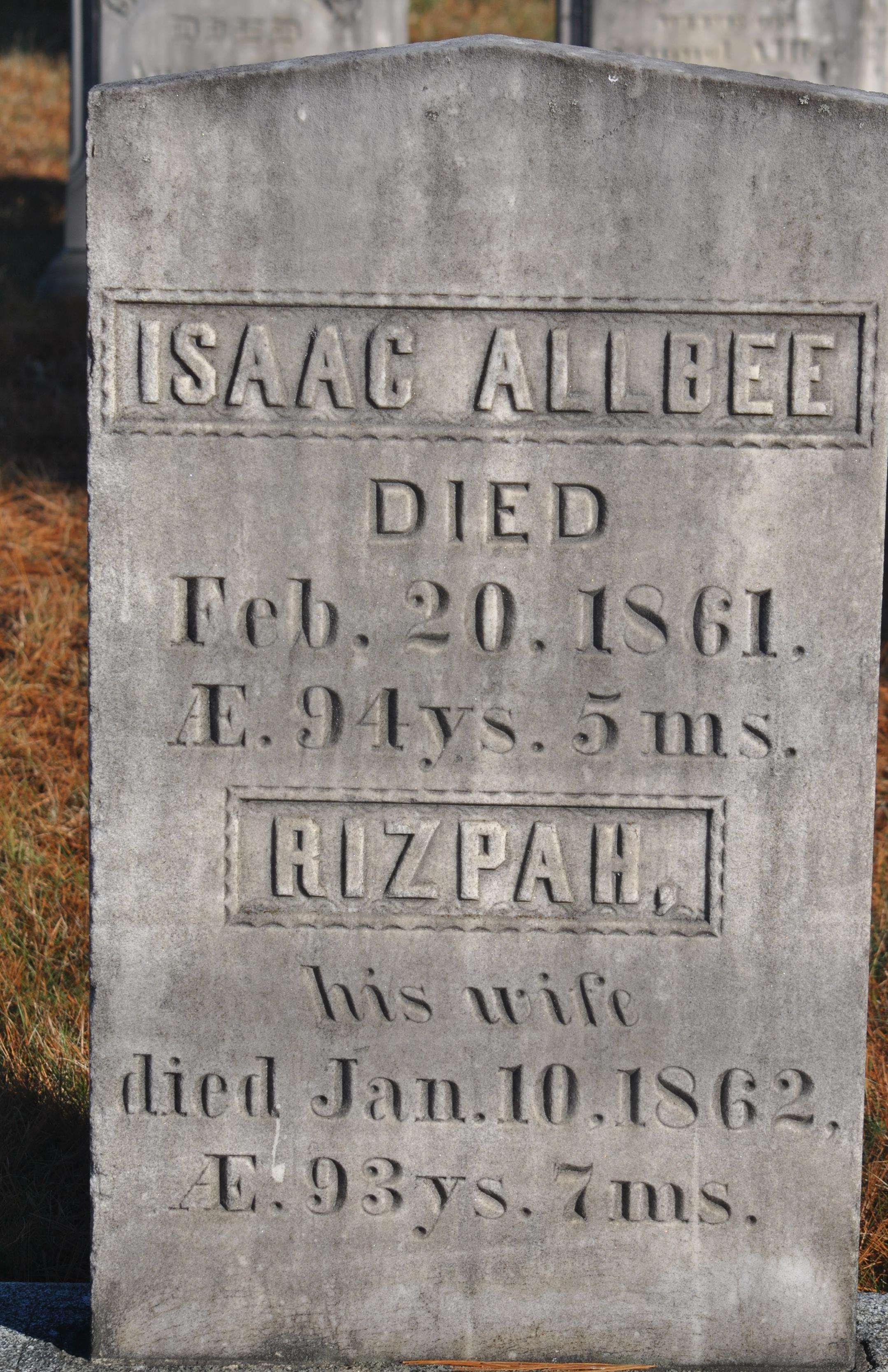 Rizpah <i>Dawes</i> Allbee