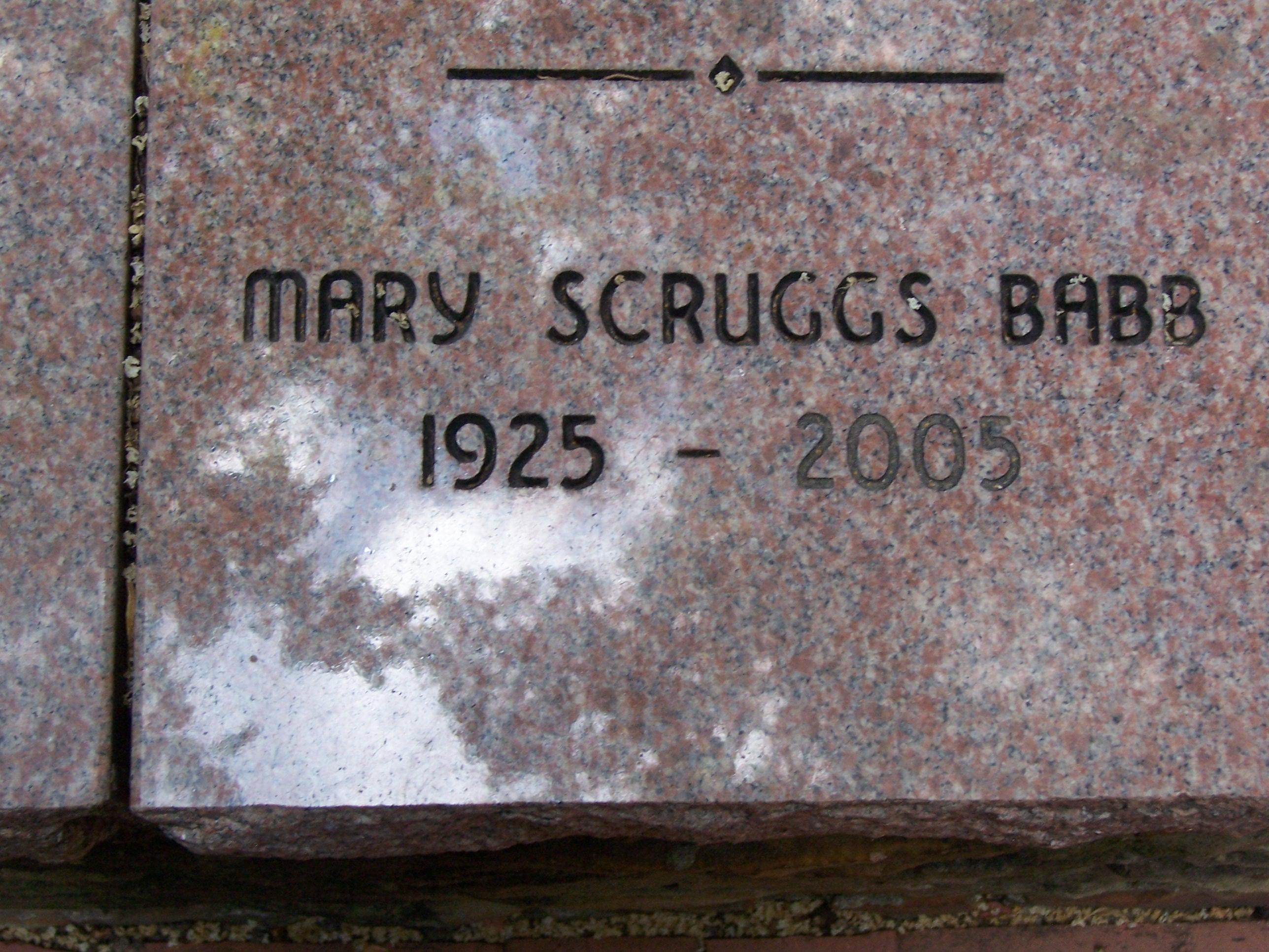Mary <i>Scruggs</i> Babb